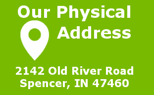 Our address is 2142 Old River Road Spencer, IN 47460