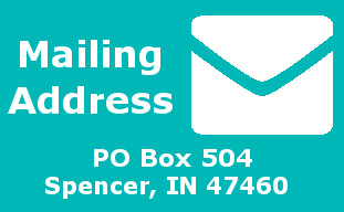 Our mailing address is PO Box 504 Spencer, IN 47460